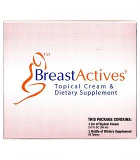 BreastActives Plus (БрэстЭктивс Плюс) с капсулами и кремом для увеличения груди выпускается в красочной упаковке