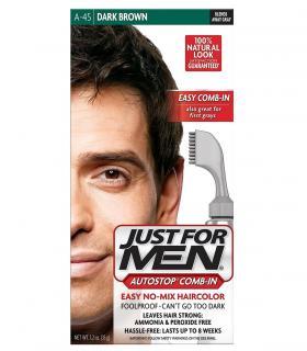 Джаст фо Мен Автостоп темно-коричневый Дак Браун A-45 [Just for Men AutoStop Dark Brown A-45] - удобны для крашения волос