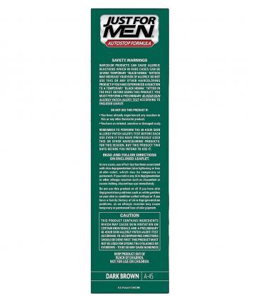 Рекомендации по применению Джаст фо Мен Автостоп темно-коричневый Дак Браун A-45 [Just for Men AutoStop Dark Brown A-45]