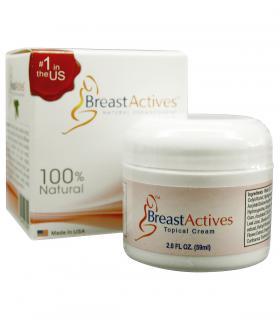 Крема БрэстЭктивс Плюс (BreasActives Plus) для увеличения груди выпускается в баночках по 59 мл