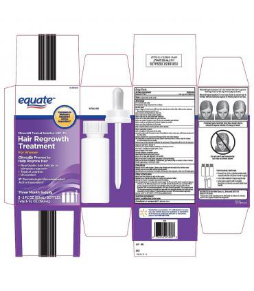 Упаковка Миноксидил 2% Equate для восстановления роста волос женщин (Minoxidil 2% Equate Hair Regrowth Treatment for Women)