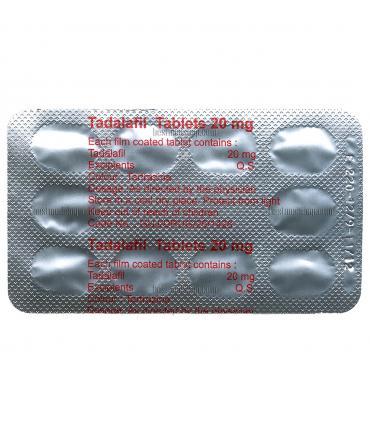 Тадалафил [Tadalafil] содержит 20 мг активного ингредиента тадалафил и является дженерик-формой препарата Сиалис (Cialis).