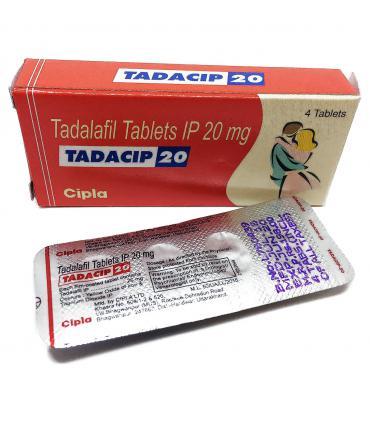 Тадасип (4 таб х 20 мг тадалафила) [Tadacip (4 tab x 20 mg tadalafil)] - точный аналог Сиалиса (Cialis) для поддержания эрекции.