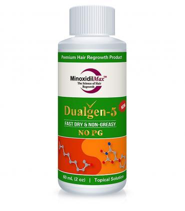 ДуалГен-5 - 5% миноксидил с 5% азелаовой кислотой, без пропиленгликоля 1 фл x 60 мл [DualGen-5 - 5% minoxidil + 5% Azelaic, without Propylene glycol 1 bottle x 60 ml]