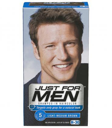 Дизайн упаковок Джаст фо Мен [Just For Men] менялся компанией Combe Inc. много раз и зависит даже от региона сбыта