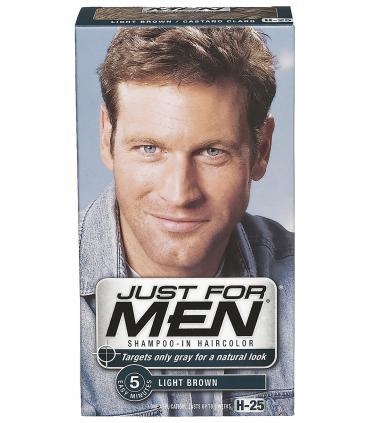 Отличие красок для мужчин Just for Men от женских красок - в абсолютно естественном виде после их применения