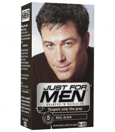 Еще один дизайн Джаст фо Мен Риал Блэк черный H-55 [Just for Men Real Black H-55] - краска для скрытия седины за 5 минут
