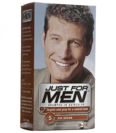 Джаст фо Мен Эш Браун бледно-коричневый H-20 [Just for Men Ash Brown H-20] - другой дизайн упаковки.