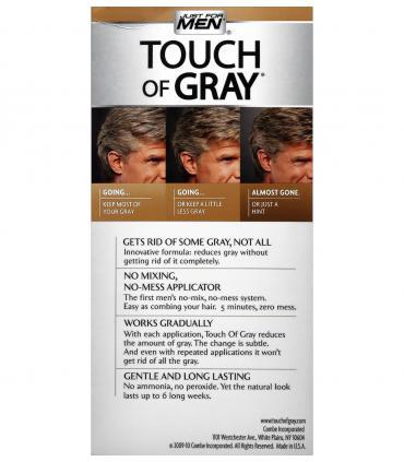 Джаст фо Мен Тач оф Грей T-25 [Just For Men Touch of Grey T-25] скрывают только часть седины для сохранения естественного вида.